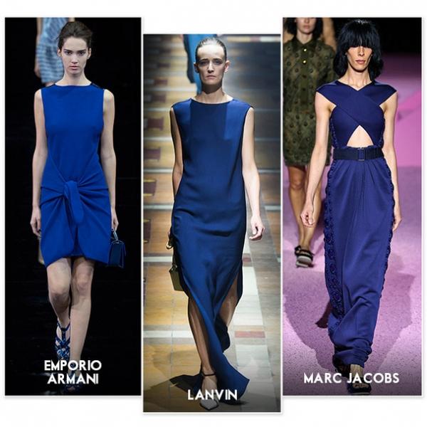 Le bleu le nouveau noir ce printemps 2015